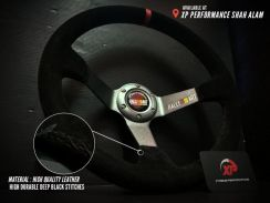 Steering ralliart deepdish 3 spoke suede baldu avs