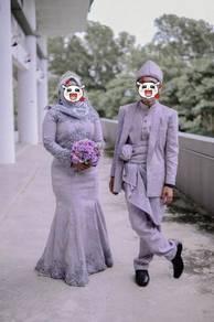 100% Fully Songket Wedding Dress