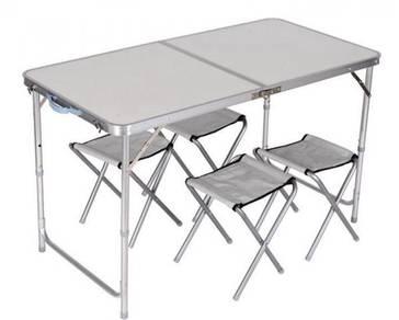 Meja lipat second hand baru pakai sebulan
