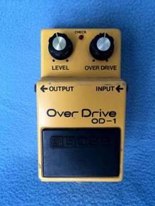 1980 Vtg.#2 Boss OD-1 Overdrive Silver Scrw Japan