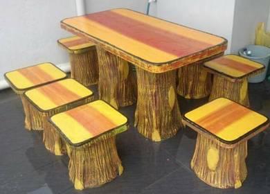 Meja kerusi batu 8