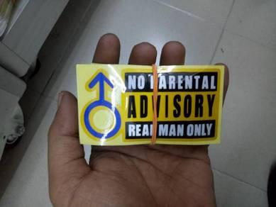 Sticker advisory