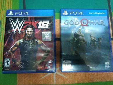 Cd ps4 w2k18 & god of war