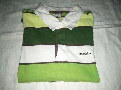 Columbia Stripes Rugby Polo Shirt L (Kod PL5004)