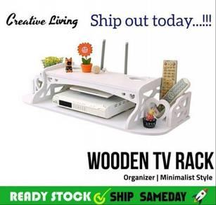 HS Wooden TV Rack Organizer (8)
