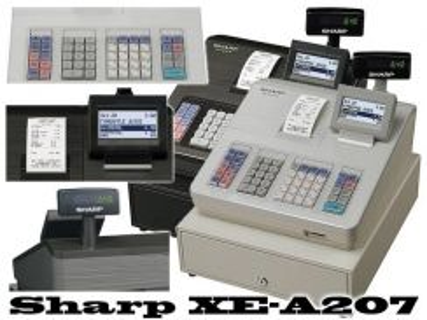 Mesin cashier sharp xe-207black cash registers