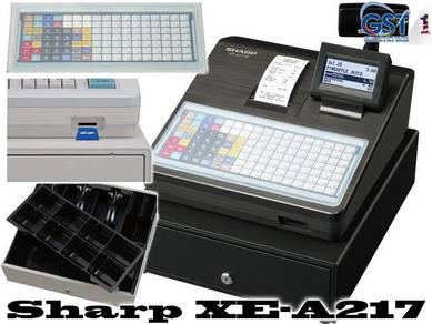 Mesin cashier sharp xe-a217b/w cash registers