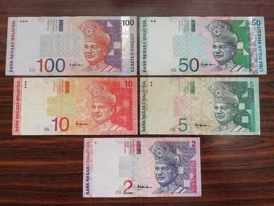 5pcs Ali Abul Hassan 10th RM100,50,10,5,2