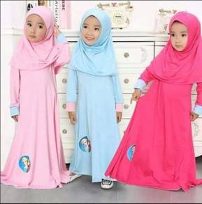 Style Charming Frozen Jubah Dress-BLUE