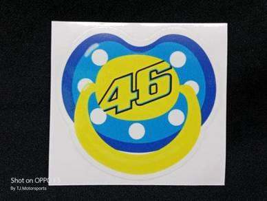 Stiker Puting 46 Rossi