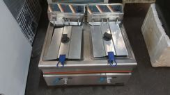 Used electric fryer double bowl forsale