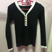Knitted formal casual blouse