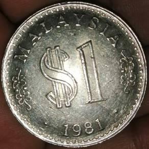 Duit syiling rm1 tahun 1981