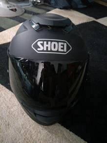 Helmet Shoei gtair smoke visor + visor siang
