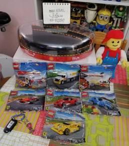 F1 FERRARI SHELL LEGO Racing Complete Garage Case