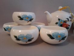 Porcelain Tea Set Flower Painted