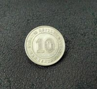 1927 KGV 10 Cents Silver Coin Straits Settlements