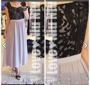 Elegant grey long dress