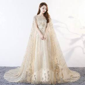 Gold wedding bridal prom dress gown RB0470