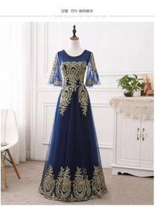 Blue wedding prom evening dress gown RBP0568