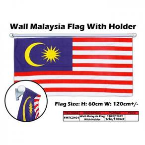 FMTC2401 60cm X 120cm Wall Malaysia Flag with Hold