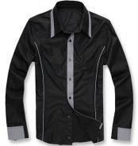 538 Kemeja Lengan Panjang Hitam Long-Sleeved Shirt