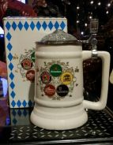 Oktoberfest ceramic mug metal lid ori box SLG