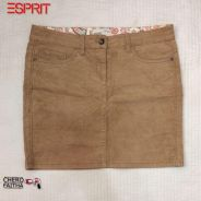 Espirit Authentic corduroy mini skirt waist pingga