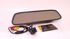 Rear View Mirror with Night Vision LED Camera Set