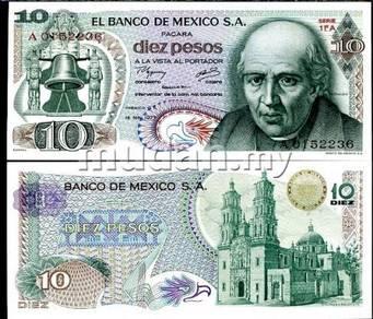 Mexico 10 pesos .1975 p 63 unc