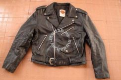 HARLEY Cafe Racer VINTAGE Leather Jacket Size M