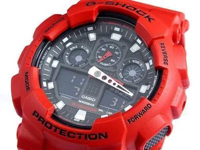 Watch - Casio G SHOCK GA100-4 RED - ORIGINAL