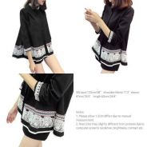 New Korean Black Blouse (Exclude Postage)