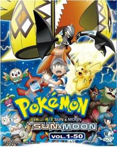 DVD ANIME Pokemon Sun & Moon Vol.1-50 (Box 1)