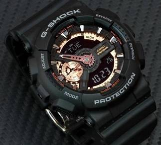 Watch- Casio G SHOCK GA110RG BLACK ROSE -ORIGINAL