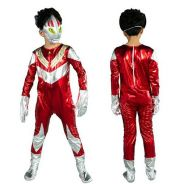 Ultraman Hero Costume with LED Mask for Kids RED