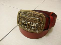 Levis 501 brass buckle tali pinggang leather