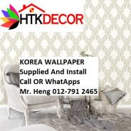 Pretty Wallcovering with Installation jh54088