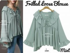 Nhm frilled loose blouse