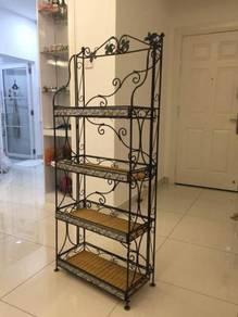 Metal rattan display rack