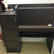 Study Desk Table with Cupboard
