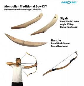 DIY Busur Mongol Siyah dan Pemegang untuk 35-40lbs