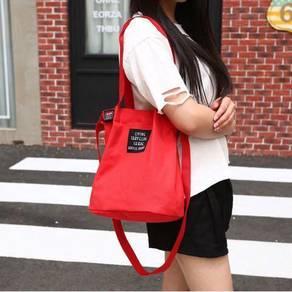 Korean canvas sling bag