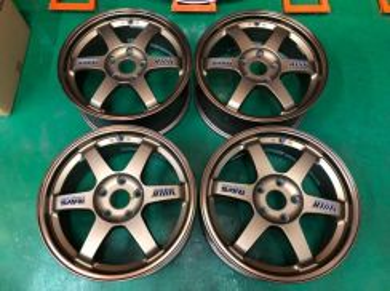 Te37 17 inch 5h 114 7.5jj off 48 original japan