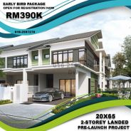 Booking fee 200 , freehold 2-storey 20x65 (last 10units)
