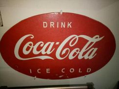 Sign Coke antik - Enamel