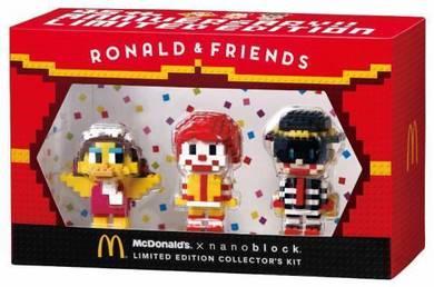Mcdonald Nanoblock Ronald set (Japan exclusive)