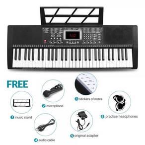 61 Keys Teaching & Learning Keyboard - Black