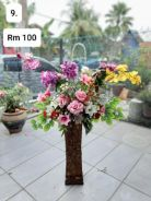 (9)Flower With Stand/ Bunga dengan Stand