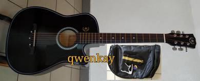 Acoustic Guitar 38Inch A&K #010 Black